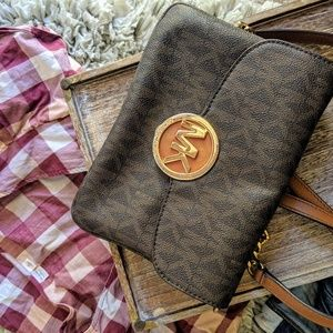 Michael Kors signature cross body purse